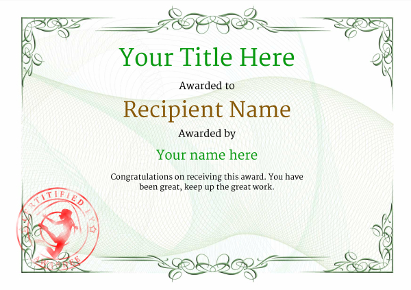 certificate-template-rythmic-gymnastics-classic-2grsr Image