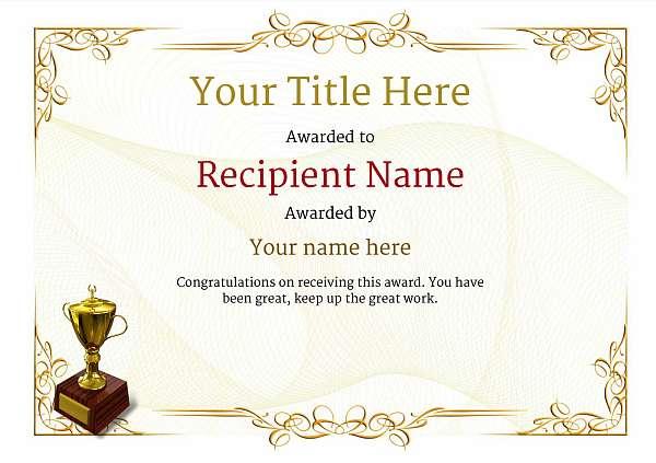 certificate-template-rythmic-gymnastics-classic-2yt2g Image