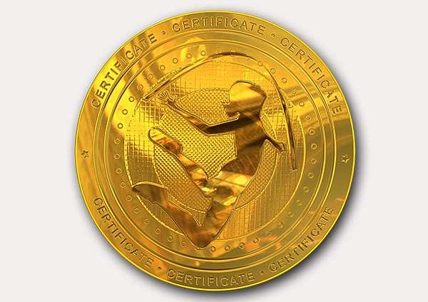 certificate-template-rythmic-gymnastics-classic-3-grey-brmg Image