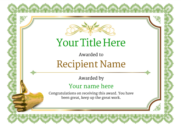 certificate-template-rythmic-gymnastics-classic-3gtnn Image