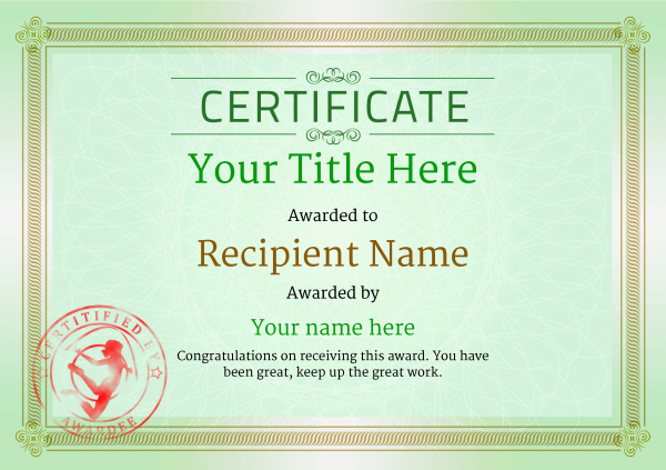 certificate-template-rythmic-gymnastics-classic-4grsr Image