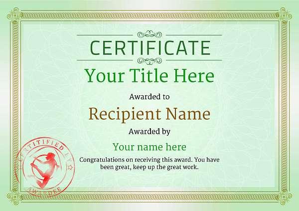 certificate-template-rythmic-gymnastics-classic-4grsr Image