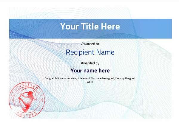 certificate-template-rythmic-gymnastics-modern-3brsr Image