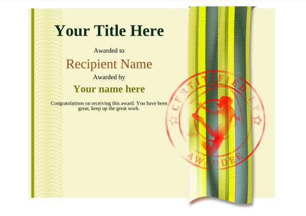 certificate-template-rythmic-gymnastics-modern-4yrsr Image