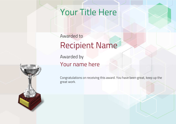 certificate-template-rythmic-gymnastics-modern-5dt6s Image