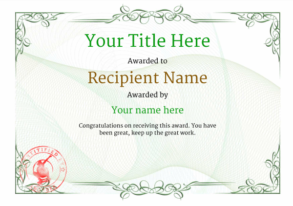certificate-template-skateboard-classic-2gssr Image