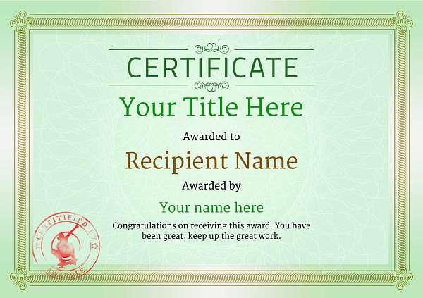 certificate-template-skateboard-classic-4gssr Image