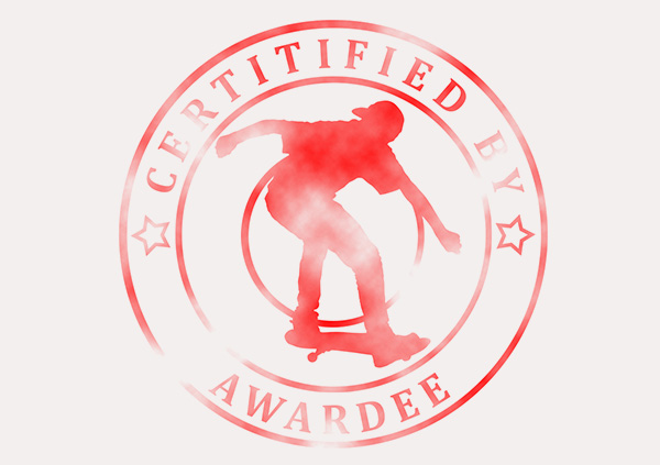 certificate-template-skateboard-classic-5-grey-bssr Image