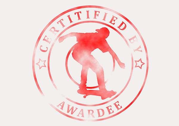 certificate-template-skateboard-modern-3-grey-bssr Image