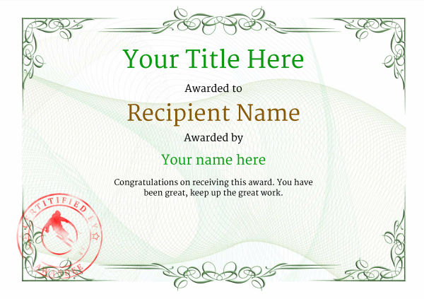 certificate-template-skiing-classic-2gssr Image