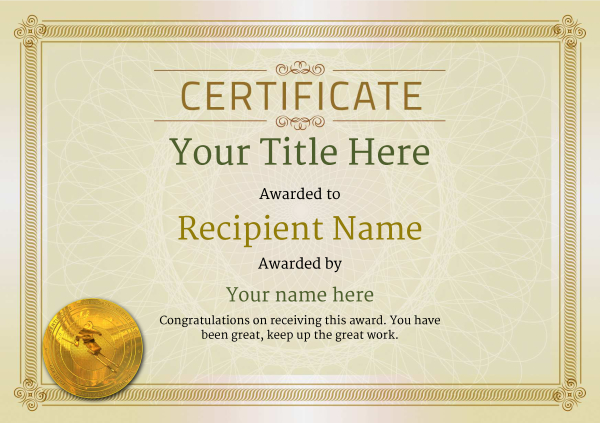 certificate-template-skiing-classic-4dsmg Image