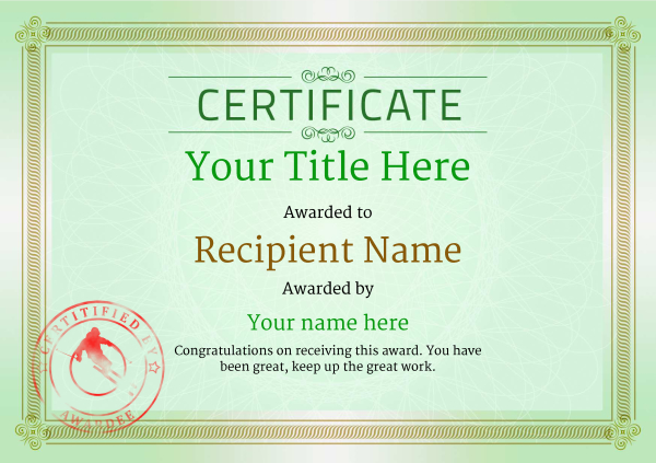 certificate-template-skiing-classic-4gssr Image