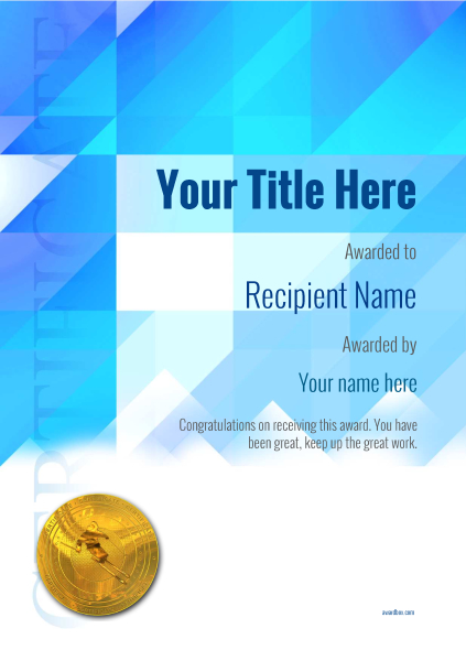 certificate-template-skiing-modern-2bsmg Image