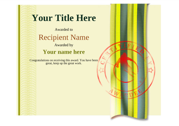 certificate-template-skiing-modern-4yssr Image