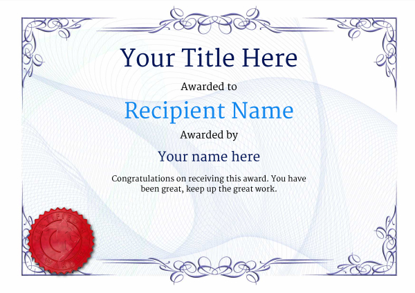 certificate-template-snowboarding-classic-2bssr Image