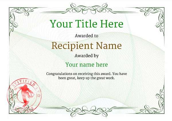 certificate-template-snowboarding-classic-2gssr Image