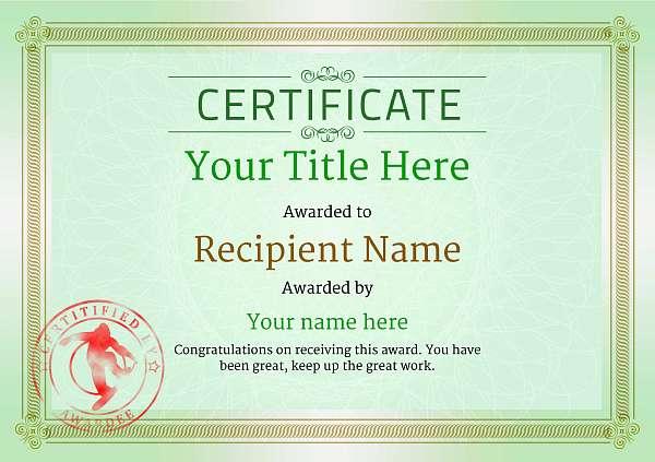 certificate-template-snowboarding-classic-4gssr Image