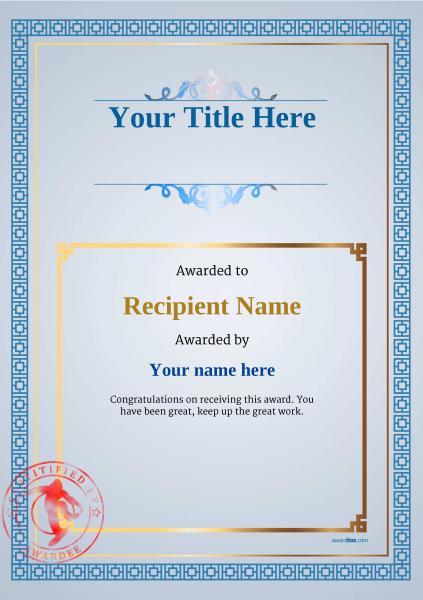 certificate-template-snowboarding-classic-5bssr Image