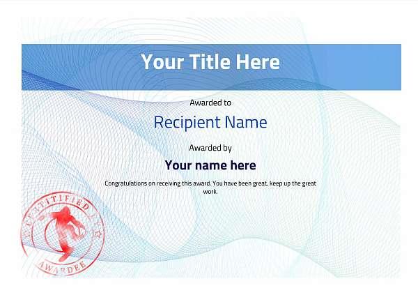 certificate-template-snowboarding-modern-3bssr Image