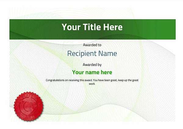 certificate-template-snowboarding-modern-3gssr Image