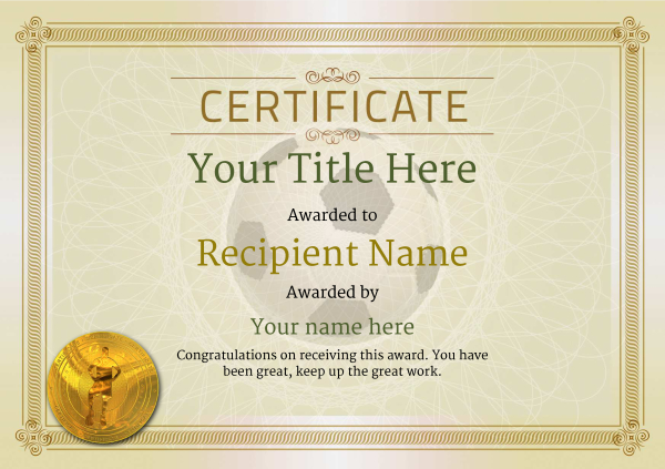 certificate-template-soccer-classic-4dsmg Image