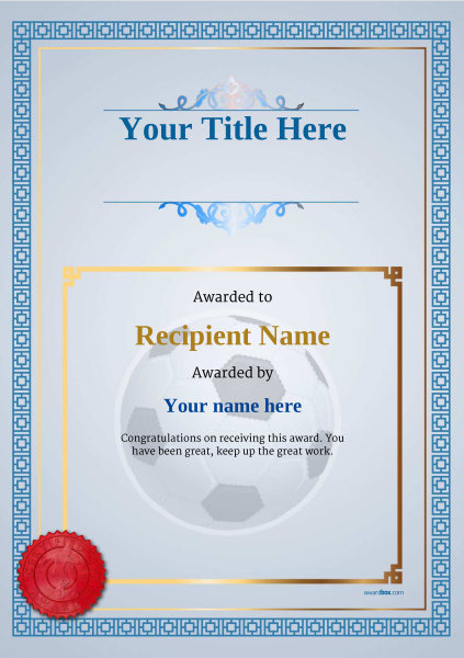 certificate-template-soccer-classic-5bssr Image