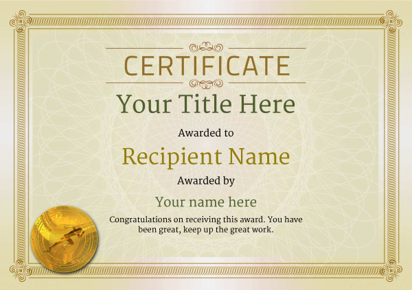certificate-template-sprinting-classic-4dsmg Image