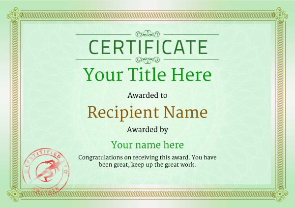 certificate-template-sprinting-classic-4gssr Image