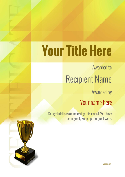 certificate-template-sprinting-modern-2yt5g Image