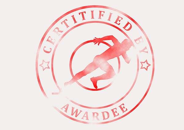 certificate-template-sprinting-modern-3-grey-bssr Image