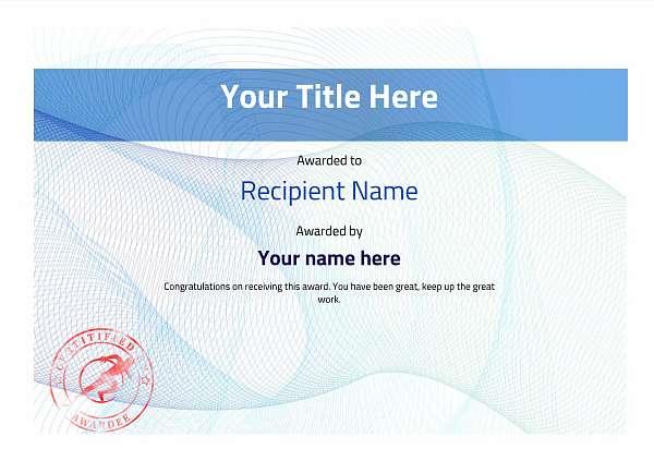 certificate-template-sprinting-modern-3bssr Image