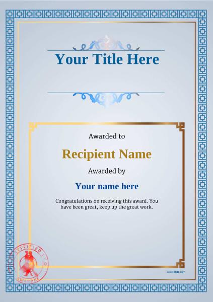 certificate-template-tango-classic-5btsr Image