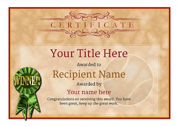 certificate-template-tennis-classic-1dwrg Image