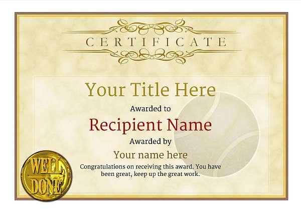 certificate-template-tennis-classic-1ywnn Image