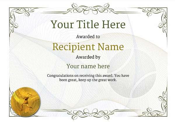 certificate-template-tennis-classic-2dlmg Image
