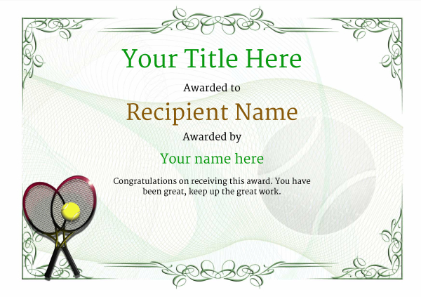 certificate-template-tennis-classic-2gtrn Image
