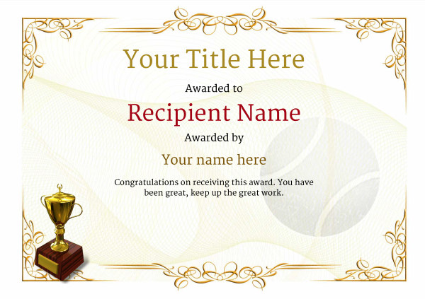 certificate-template-tennis-classic-2yt2g Image