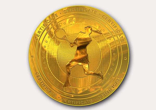 certificate-template-tennis-classic-3-grey-blmg Image
