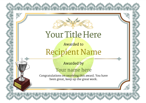certificate-template-tennis-classic-3dt2s Image