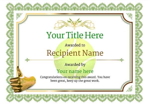 certificate-template-tennis-classic-3gtnn Image