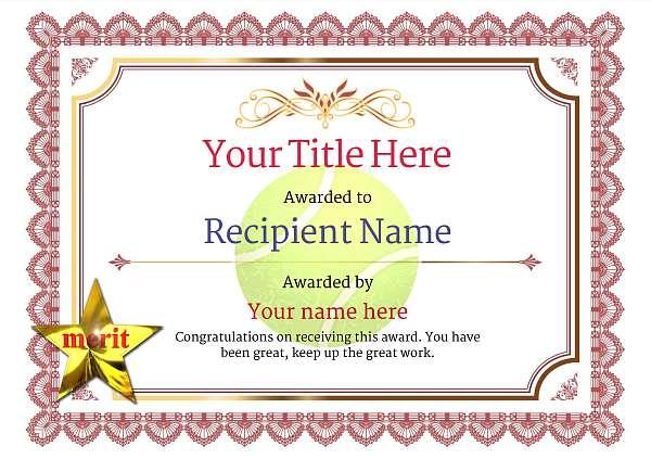 certificate-template-tennis-classic-3rmsn Image