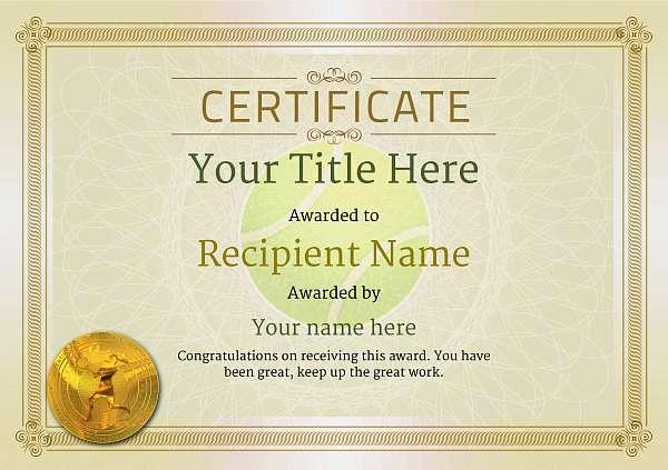 certificate-template-tennis-classic-4dlmg Image