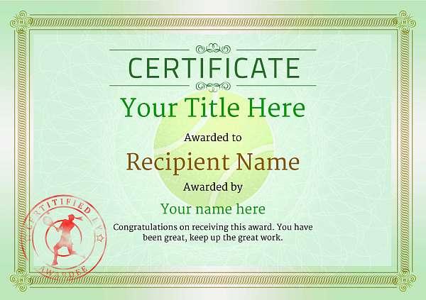 certificate-template-tennis-classic-4glsr Image