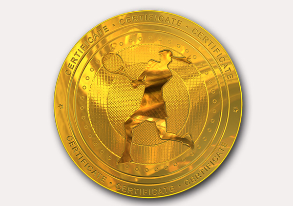certificate-template-tennis-modern-2-grey-blmg Image