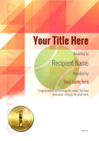 certificate-template-tennis-modern-2r1mg Image