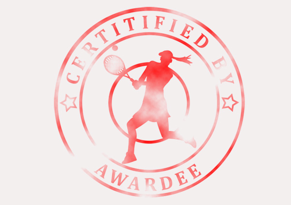 certificate-template-tennis-modern-3-grey-blsr Image