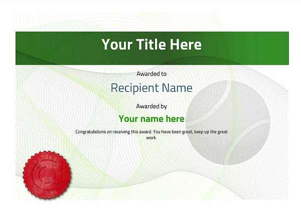 certificate-template-tennis-modern-3glsr Image