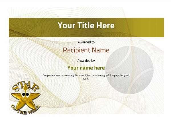 certificate-template-tennis-modern-3ysnn Image