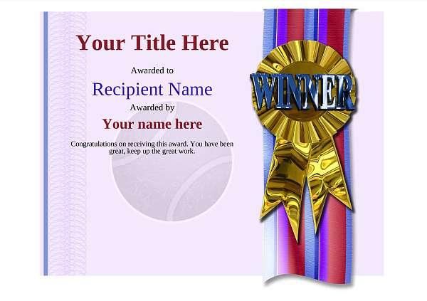 certificate-template-tennis-modern-4dwrg Image