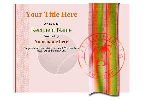 certificate-template-tennis-modern-4rlsr Image